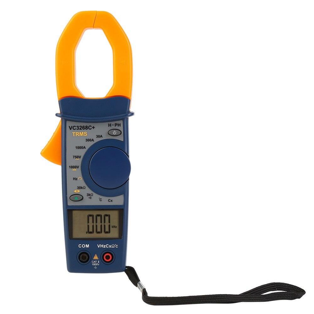 1Set Digital Clamp Multimeter AC/DC Voltage Current Resistance Temperature Tester VC3268C 3299Count Voltmeter Ammeter Ohmmeter digital multimeter voltmeter ammeter ohmmeter resistance ac dc tester meter