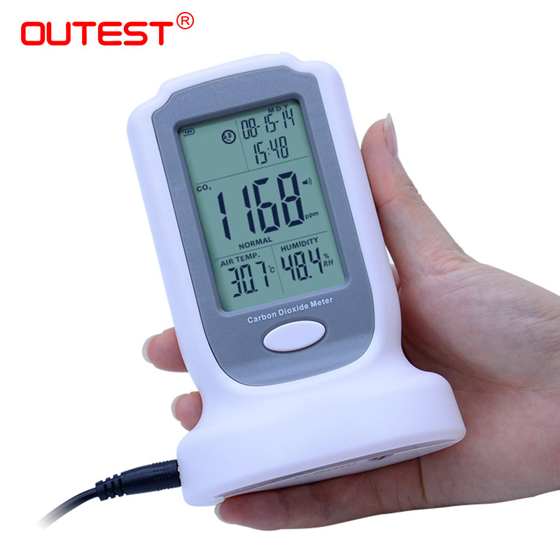 OUTEST CO2 Gas Sensor carbon dioxide meter co2 ppm meter portable co2 detector handheld digital GM8802 portable handheld carbon dioxide detector precision co2 meter high quality gas detector tester