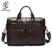 Genuine Leather Men Bags Business Briefcase Men S Laptop Bag Man Vintage Crossbody Shoulder Handbag Male