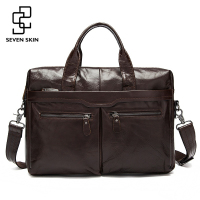Genuine Leather Men Bags Business Briefcase Men's Laptop Bag Man Vintage Crossbody Shoulder Handbag Male Messenger Bag Portfolio