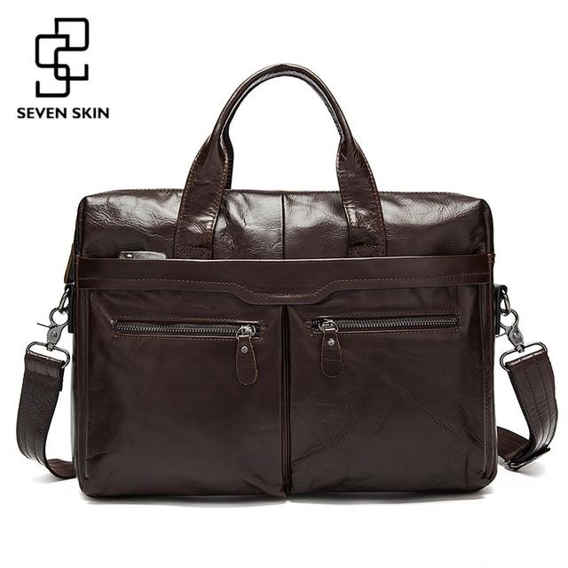 2992224b93 Véritable cuir hommes sacs mallette d'affaires hommes pochette d'ordinateur homme  Vintage bandoulière