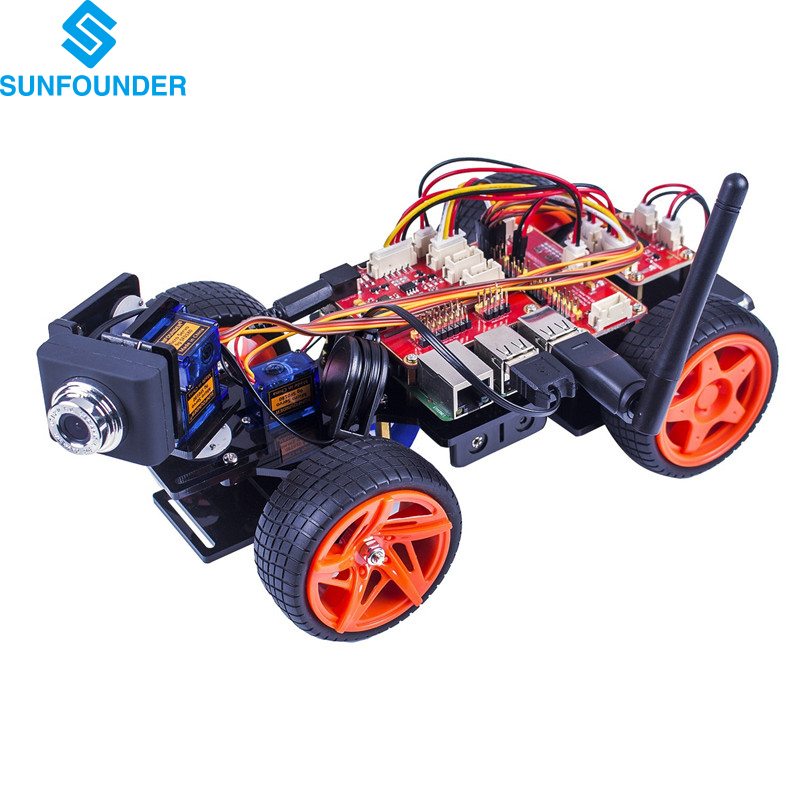 SunFounder Raspberry Pi Smart Video Car Kit V2.0 GUI programming Remote Control by UI on Windows/Mac and Web Browser Electronic