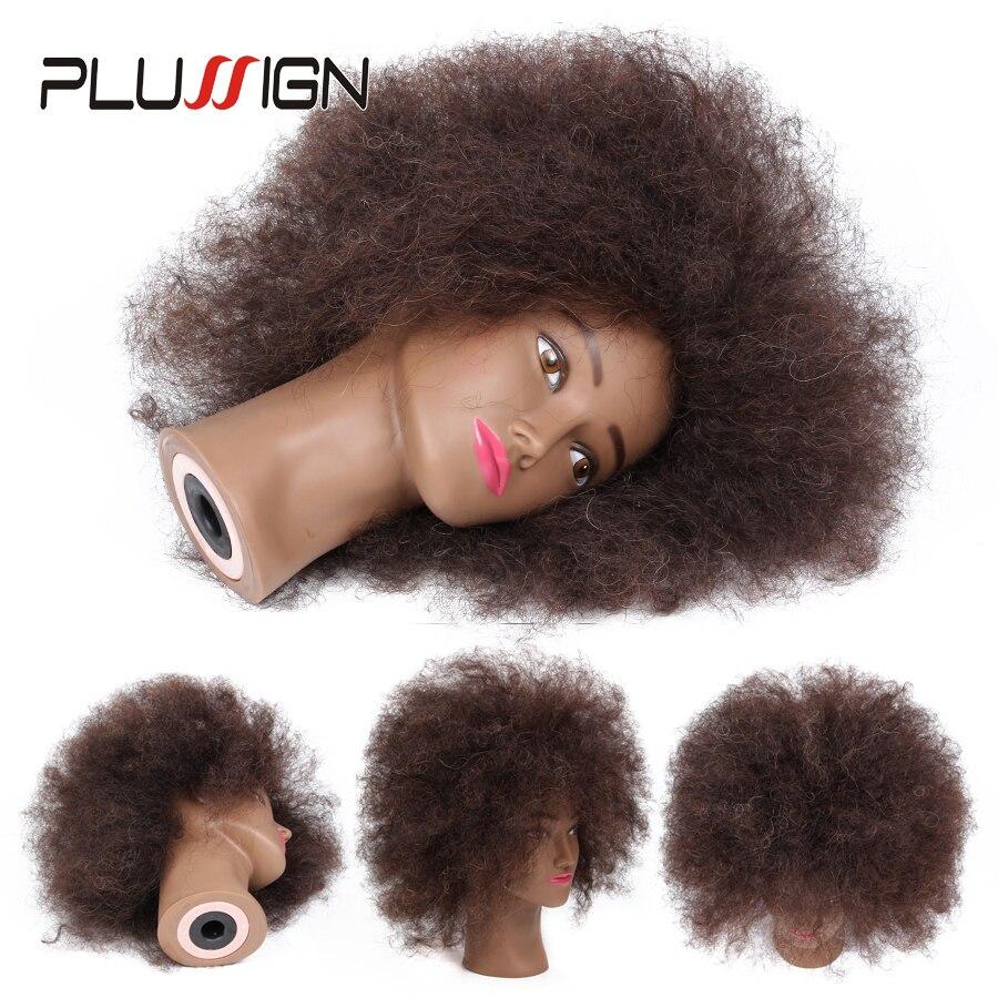 Meilleurs Cheveux Humains Femelle De Coiffure Formation Mannequin Tête Avec Pince Support De Table Naturel Afro Coiffure Pratique Mannequin Modèle