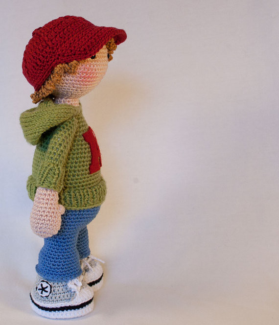 Crochet for doll sports boy toy rattle-in Baby Rattles & Mobiles ...