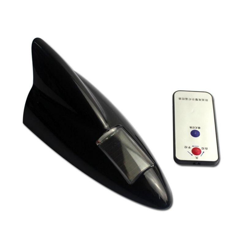 LED à alimentation solaire de voiture clignotant aileron de requin avertissement feux arrière Anti-Collision avertissement lumière stroboscopique solaire