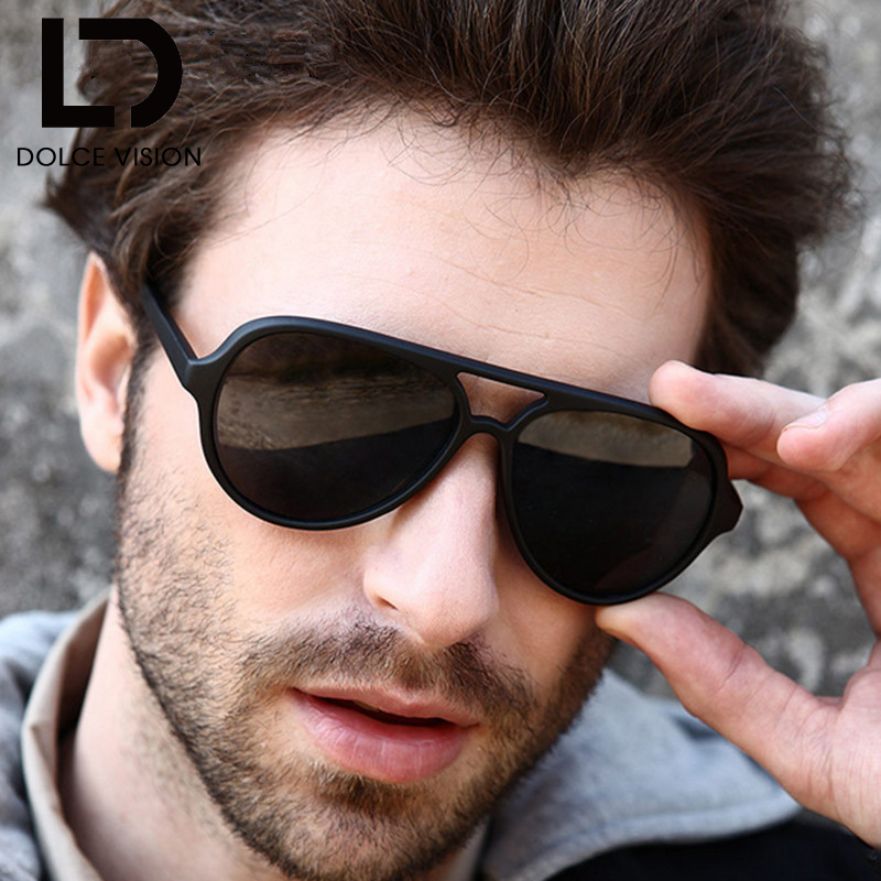 085e6f3b66f11 Detail Feedback Questions about DOLCE VISION Black Pilot Sunglasses Men  Brand Design Classic Sun Glasses For Men High Quality Shades Original  Female Oculos ...