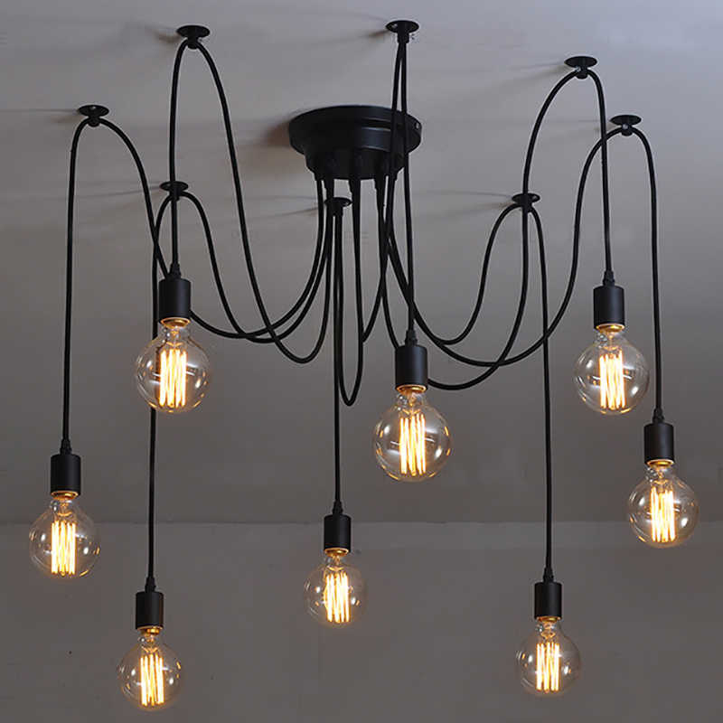 vintage Ceiling Lights industrial design living room bedroom large modern retro loft ceiling lamp lighting lamparas de techo