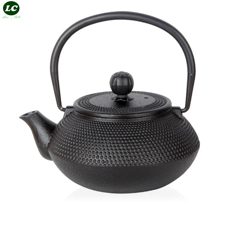Kitchen Dining bar Cookware Water Kettles Iron pot No coated Cast Iron pot Handmade Teapot Boiled Tea Iron Pot Tea 600ML 1200ML