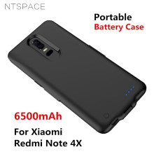 NTSPACE 6500mAh External Battery Power Charger Case For Xiaomi Redmi Note 4X Portable Backup Bank Charging