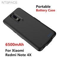 Ntspace 6500 mah bateria externa power bank caso de carregamento para xiaomi redmi nota 4x bateria caso portátil powerbank capa