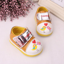 2017 Baby Sport Shoes Leather Chicken printing Boys Girls Baby good quality casual shoes Sneakers Comfortable Kids Flats Shoes