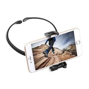 Image 4 - 스포츠 카메라 넥 홀더 DJI Osmo 액션 GOPRO 9 8 Sjcam Xiaoyi 캠코더 전화 웨어러블 교수형 키트 교수형 브래킷