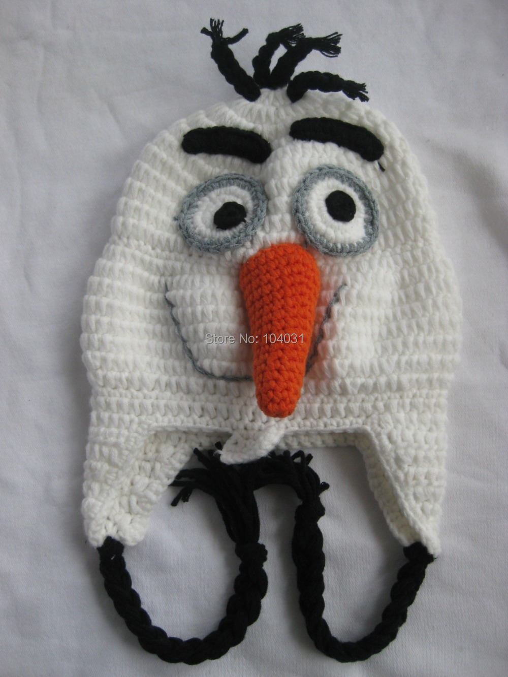 Cute Handmade Crochet Kids Winter Hat Frozen Snowman Hat Crochet