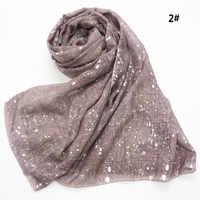 Bufanda de viscosa de gran tamaño lisa de moda para mujer chales Pashmina y envolturas hijab bufandas sjaal musulmán