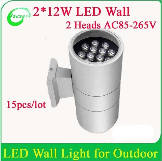 Forte Raccord En Aluminium Haute Puissance 24 W Exterieure Led Mur