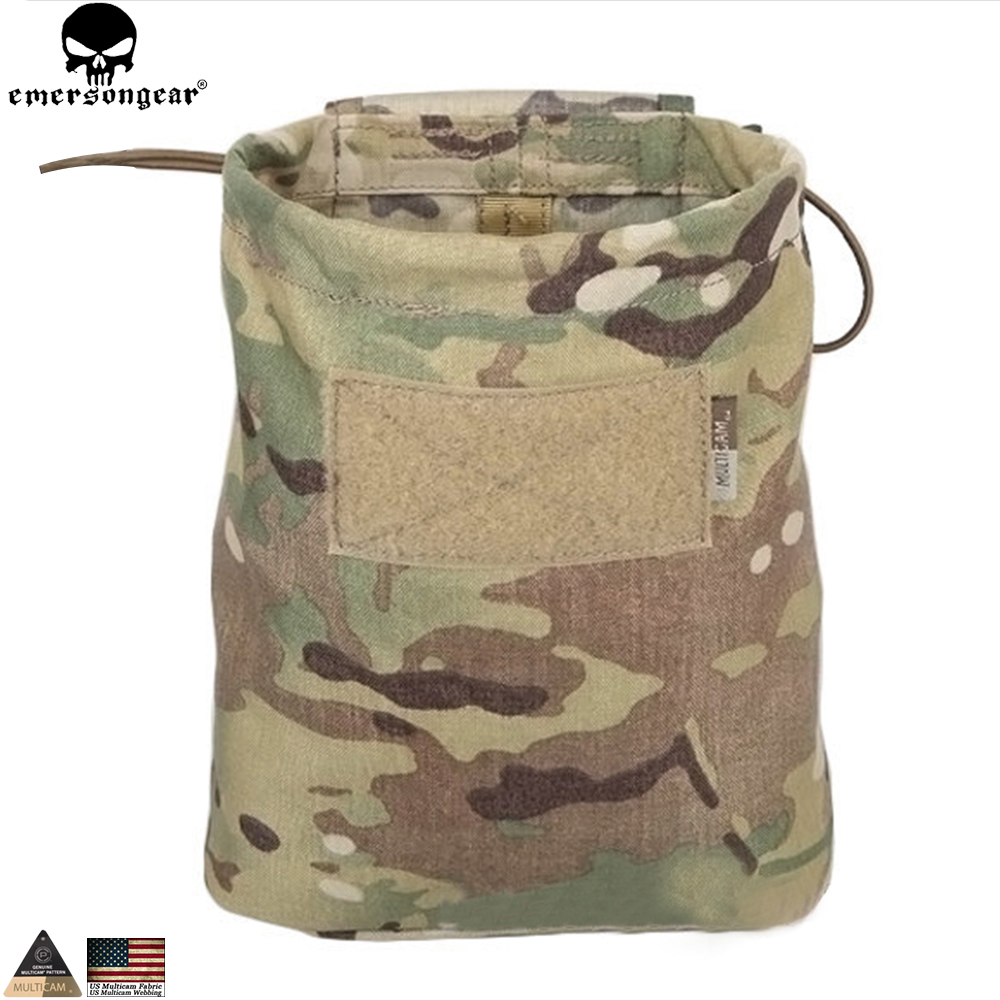 EMERSONGEAR Drop Pouch Dump Pouch Tactique Molle Magazine Poche Airsoft Paintball Chasse Outil Mag Pouch Multicam Noir EM9041