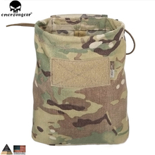 EMERSONGEAR Drop Pouch Dump Pouch Tactical Molle Magazine Pouch Airsoft Paintball Hunting Tool Mag Pouch Multicam Black EM9041
