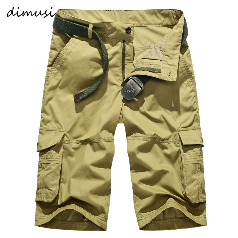 DIMUSI Camouflage Camo Cargo Shorts Mens New Casual Cotton Shorts Male Loose Work Shorts Man Breathable Military Short Pants 5XL