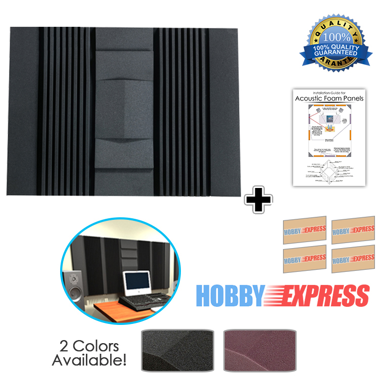 Arrowzoom 10 pcs Set Wall Insulation Acoustic Sound Absorption Studio Soundproof Foam 47.2 * 35.4 * 2.9 2 Colors KK1048