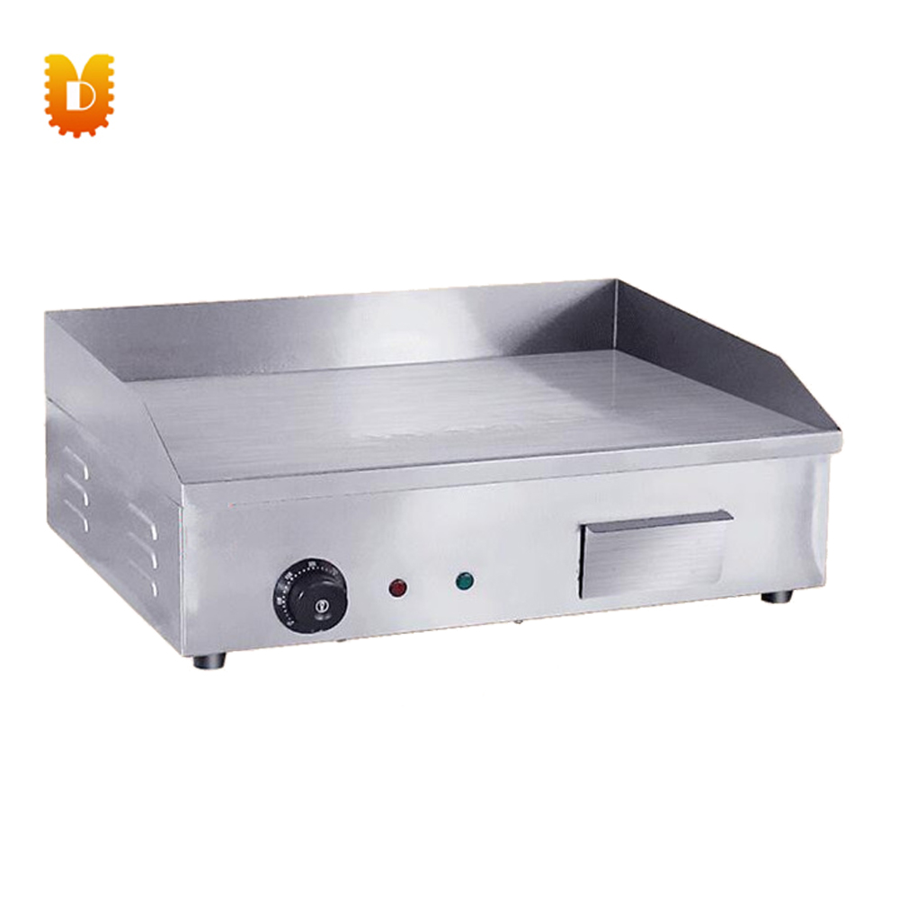 Stainless steel commercial electric griddle steak grill machineStainless steel commercial electric griddle steak grill machine