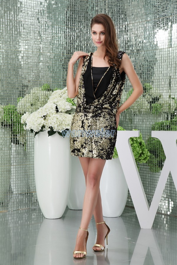 free shipping 2014 new design hot short mini sequin brides maid dresscap sleeve formal sexy beading plus size girls   prom     Dresses