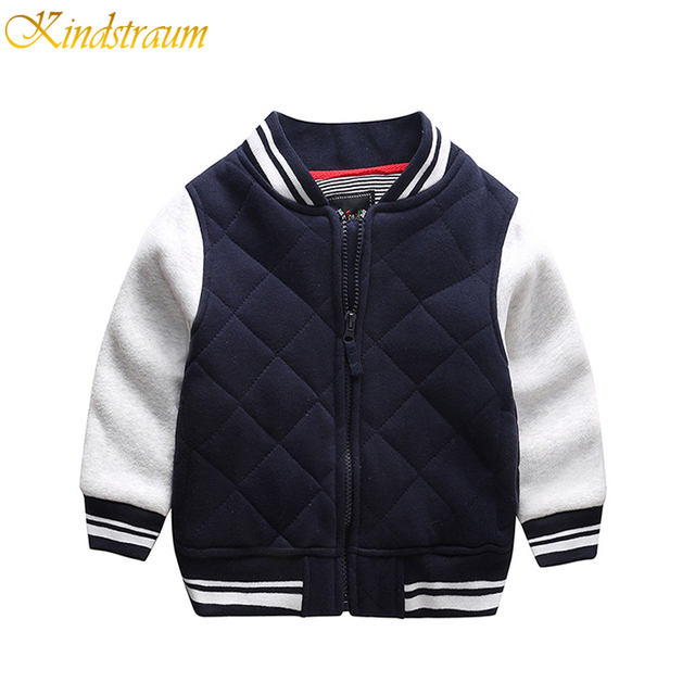 Kindstraum New Boys Cotton Baseball Jacket Spring & Autumn Kids Brand Casual Coat Children Classical Outwear Boys Clothing,MC322