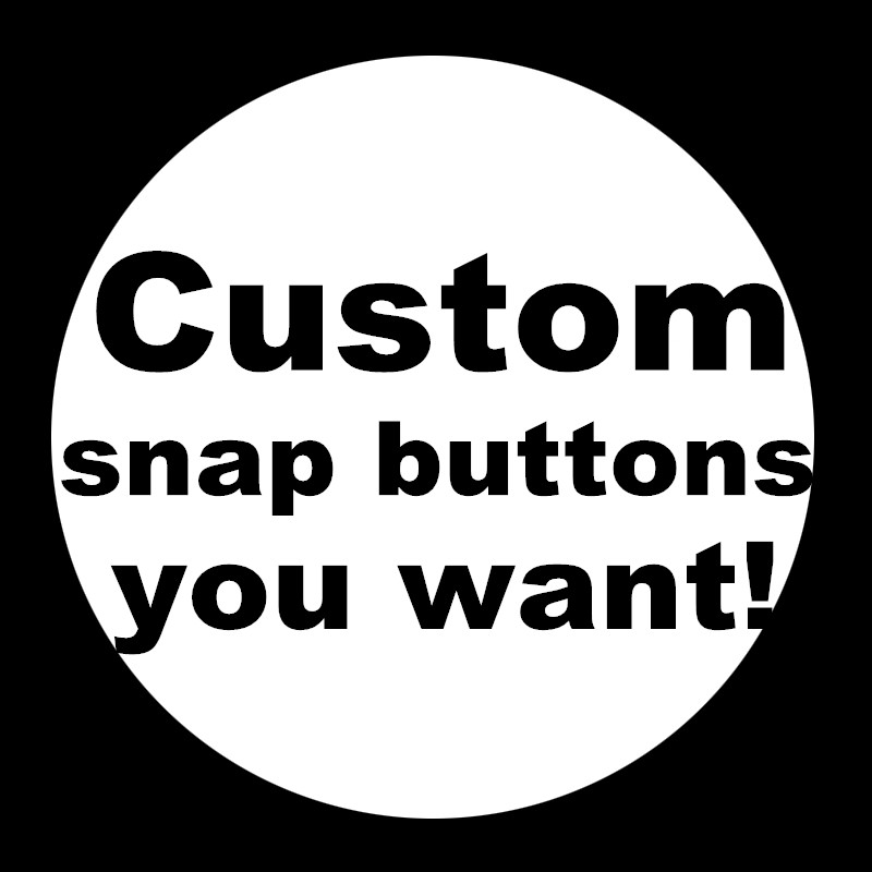 New DIY custom snap buttons 12mm/18mm/20mm silver /golden snap buttons wholesale Personalized Photo image