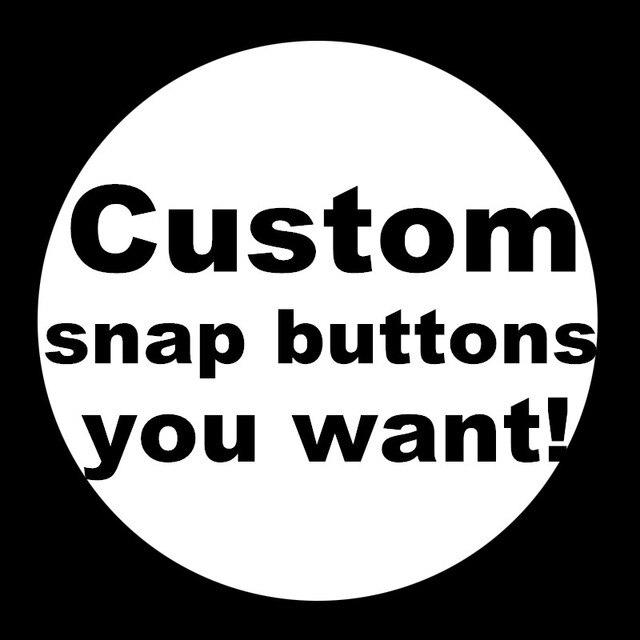 New DIY custom snap buttons 12mm/18mm/20mm silver /golden snap buttons wholesale
