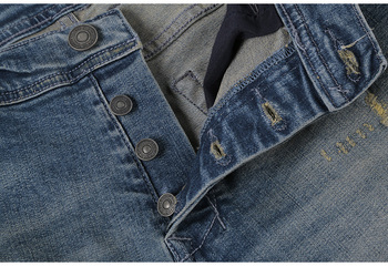 Ripped Holes Stretch Jeans 4