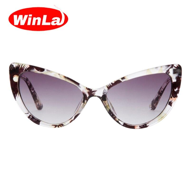 dc3887fba67d2 Winla Sexy Olho de Gato Óculos De Sol Retro Mulheres Óculos De Sol Olho de  Gato Do Vintage óculos de Sol Estilo Da Marca Designer Óculos de sol oculos  de ...