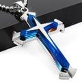 Unisex Men Stainless Steel Cross Pendant Necklace Chain Kimisohand