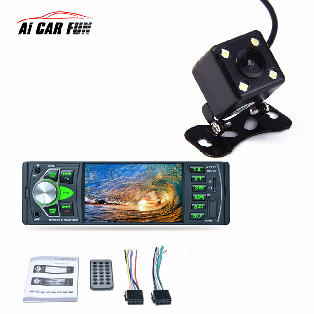 Car Radio Music Player with Remote Control with Rear View Camera Support Bluetooth MP5/MP4/MP3/FM Transmitter Car Video 4022D