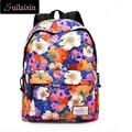 High Quality Women Waterproof Canvas Backpack For Teenager Girls Printing Floral Backpacks Casual Waterproof Travel School Bags