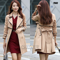 2016 spring and autumn fashion beige plus size ladies elegant pea coat uk slim fit black jacket for women 4XL patchwork pea coat