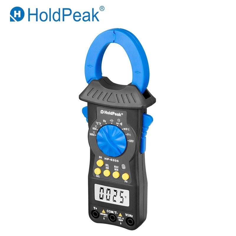 Portable Multimètre HoldPeak HP-6205 Numérique Pince Multimètre AC DC Courant Voltmètre Ohm 6000 Auto Gamme Mini compteur Électronique