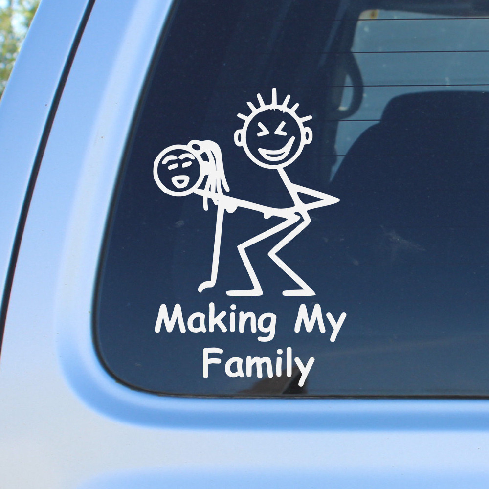 Stick Figure Truck For Back Glass Custom Stickers