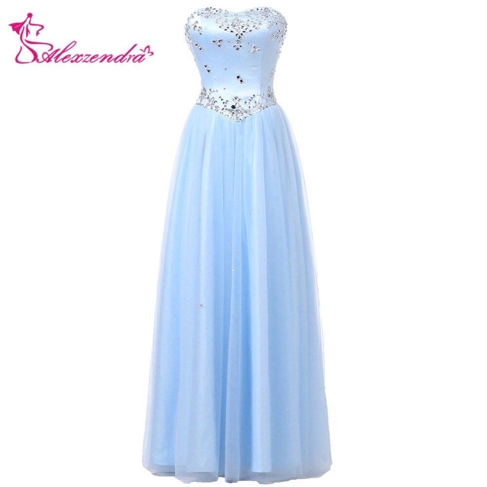 Alexzendra robe de demoiselle d'honneur pour mariage rose chérie robes de soirée cristaux demoiselles d'honneur