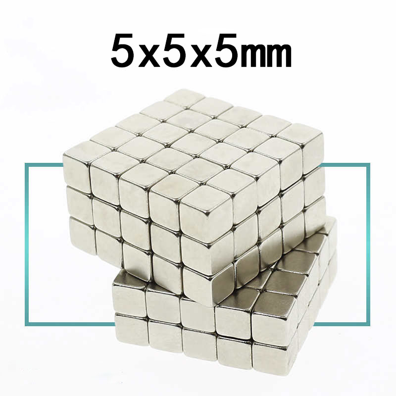 20/50/100pcs 5x5x5 Small 5*5*5 Strong Magnetic Permanent Magnets 5mm x 5mm x 5mm Rare Earth Super Powerful Neodymium Magnet image