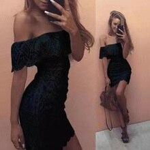 Off Shoulder Slash Neck Short Sleeve Dresses