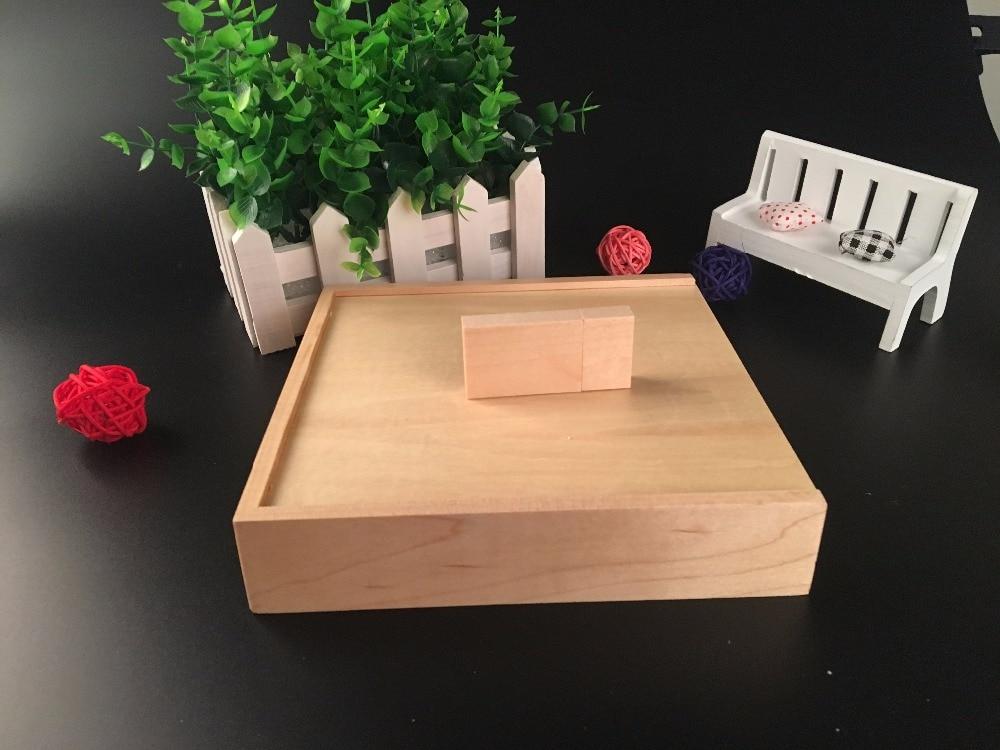 New Custom Wooden Maple usb photo jewelry CD font b box b font 170 170 35