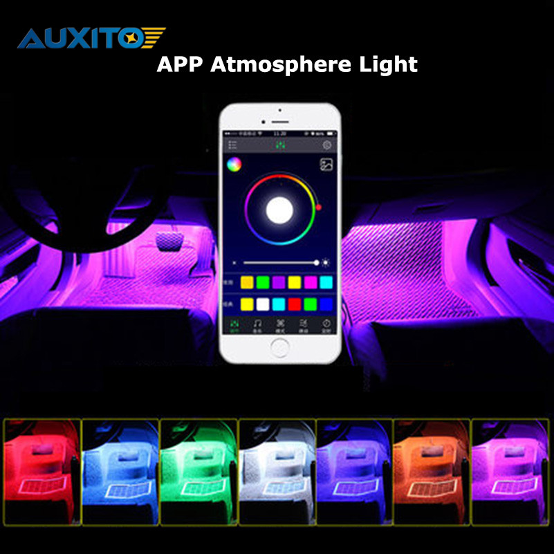 Phone APP Control Car Interior RGB LED Strip Light Atmosphere Decoration Lamp For VW Polo Sedan Beetle Golf 4 5 6 7 Passat B5 B6 for mitsubishi outlander lancer 10 9 asx pajero sport l200 colt carisma app control car interior led atmosphere decoration light