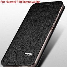 Для Huawei P10 lite чехол оригинальный MOFI Huawei P10 Lite крышка кремния кожа флип книжка для Huawei P10 Lite Coque Роскошные 5.2″