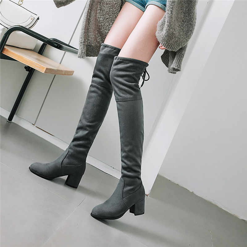 Size Botas Ladies Shoes|Knee-High Boots