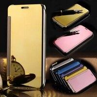 For Samsung Galaxy S7 Edge Smart Sleep View Mirror Flip Leather Wallet Case For Samsung Galaxy