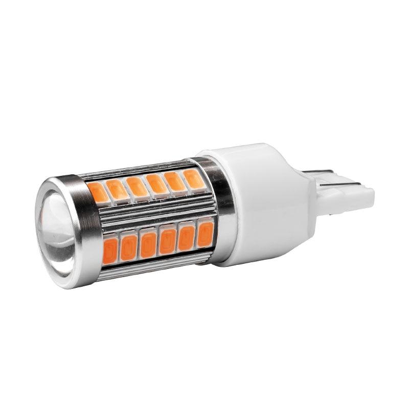 Luz LED antiniebla trasera para coche, Bombilla DRL de circulación diurna de alta calidad T20 7443 W21/5W Super brillante 33 SMD 5630 5730
