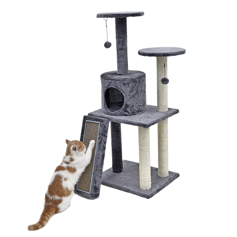 RU Domestic Delivery Cat Climbing Tree Pet House With Staircase Cat Scratching Post Kitten Playing Ball Bowl Cat FurnitureRU Domestic Delivery Cat Climbing Tree Pet House With Staircase Cat Scratching Post Kitten Playing Ball Bowl Cat Furniture