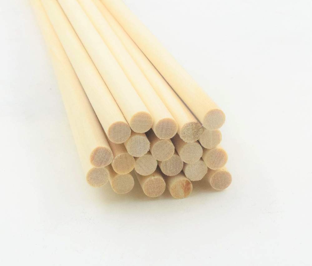 10 Pcs Wooden Sticks DIY Wooden Crafts Gear Sticks Pegs Sticks Sweet Pole Trees Wooden Tool 0.4 CM * 30 CM Stick