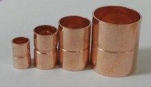 10PCS/LOT  Inner Diameter:12mm Thickness:0.8mm  International Standard Copper Welding Pipe Seamless Red Copper Tube Fittings   цены