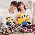 Los amantes camisones de algodón adulto precioso minion pijamas chándal informal para para personitas amarillas más el tamaño M-XXXL pijamas hombre