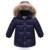 Crianças Jaqueta de Pato Para Baixo Inverno Quente Com Pele De Bebê Menino Sólida menina Vestuário de Moda Casaco Com Capuz Jaqueta de Inverno Criança Para Baixo casaco
